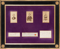 Lincoln Assassination: Three Superlative Autographs
