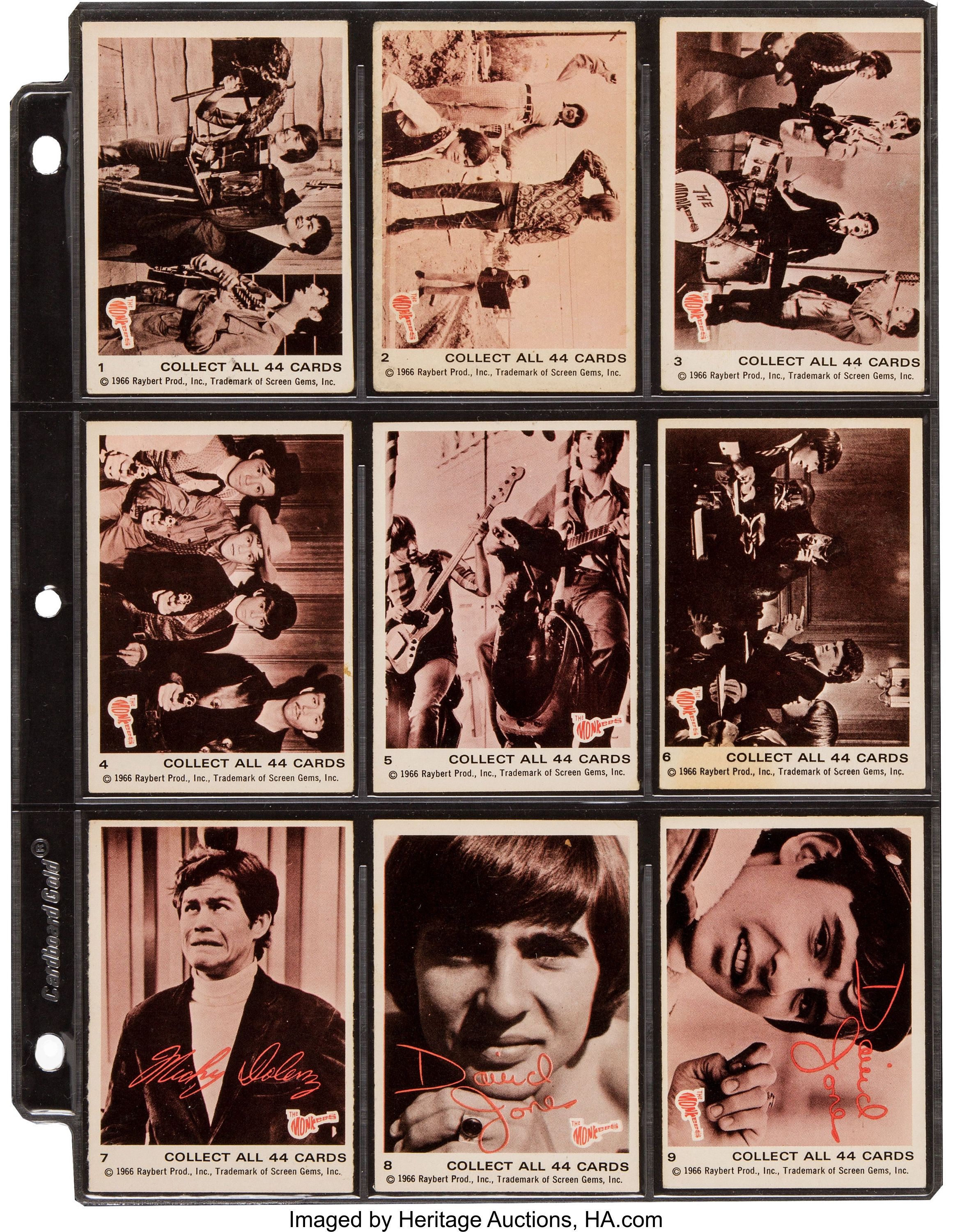 The Monkees Trading Cards Sets (Donruss, 1966-68