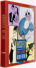 Books:Art & Architecture, Al Hirschfeld. SIGNED/LIMITED. On Line. New York: Applause, [1999]. Deluxe edition limited to 550 signed and numbere...