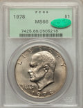 Eisenhower Dollars: , 1978 $1 MS66 PCGS. CAC. PCGS Population (363/5). NGC Census: (137/5). Mintage: 25,702,000. Numismedia Wsl. Price for proble...