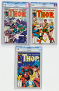 Modern Age (1980-Present):Superhero, Thor #348, 352, and 356 CGC-Graded Group (Marvel, 1984-85) CGCNM/MT 9.8.... (Total: 3 Comic Books)