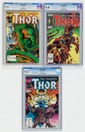 Modern Age (1980-Present):Superhero, Thor #340-342 CGC-Graded Group (Marvel, 1984) CGC NM/MT 9.8 Whitepages.... (Total: 3 Comic Books)