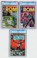 Modern Age (1980-Present):Superhero, Rom #32, 33, and 43 CGC-Graded Group (Marvel, 1982-83) CGC NM/MT9.8 White pages.... (Total: 3 Comic Books)