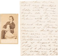 Miscellaneous:Ephemera, [John Wilkes Booth]: 1864 Edwin Booth Letter Mentioning His BrotherJohn Wilkes. ... (Total: 8 Items)