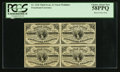 Fractional Currency:Third Issue, Fr. 1226 3¢ Third Issue Block of Four PCGS Choice About New 58PPQ.. ...