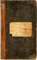 Books:Americana & American History, [Civil War]. Manuscript Military Record Book. 1862. Record for theIllinois State Volunteers, regiment unknown. ...
