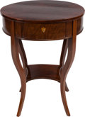 Furniture , A CLASSICAL REVIVAL MAHOGANY OCCASIONAL TABLE, 20th century. 29-1/2 inches high x 23-1/4 inches diameter (74.9 x 59.1 cm). ...