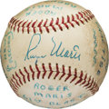 Autographs:Baseballs, 1961 Roger Maris Single Signed Baseball Autographed the Day HeBroke Home Run Record....