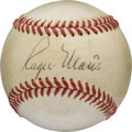 Autographs:Baseballs, 1960's Roger Maris Single Signed Baseball. ...