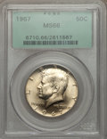 Kennedy Half Dollars: , 1967 50C MS66 PCGS. PCGS Population (109/10). NGC Census: (111/6).Mintage: 295,046,976. Numismedia Wsl. Price for problem ...