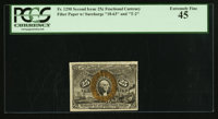 Fr. 1290 25¢ Second Issue PCGS Extremely Fine 45