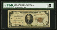 Fr. 1870-H* $20 1929 Federal Reserve Bank Star Note. PMG Very Fine 25