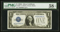 Small Size:Silver Certificates, Fr. 1601* $1 1928A Silver Certificate. PMG Choice About Unc 58 EPQ.. ...