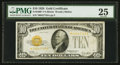 Small Size:Gold Certificates, Fr. 2400* $10 1928 Gold Certificate. PMG Very Fine 25.. ...