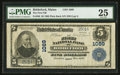 National Bank Notes:Maine, Biddeford, ME - $5 1902 Plain Back Fr. 598 The First NB Ch. # 1089....