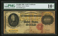 Large Size:Gold Certificates, Fr. 1225h $10,000 1900 Gold Certificate PMG Very Good 10 Net.. ...