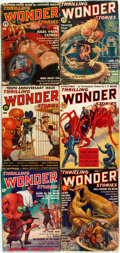 Books:Pulps, [Pulps]. Six Issues of Thrilling Wonder Stories. A ThrillingPublication, [1930s]. ... (Total: 6 Items)