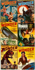 Books:Pulps, [Pulps]. Six Issues of Thrilling Wonder Stories. ThrillingPublication, [1940, 1950-1954]. ... (Total: 6 Items)