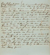 "Manuscript Slavery Bill of Sale Document. January 24, 1850. Petition describes a slave, Jennifer, who was ""struck o..."