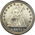 Proof Seated Quarters, 1873 25C Arrows PR64 Cameo PCGS....