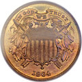 Proof Two Cent Pieces, 1864 2C Small Motto PR66 Red PCGS....