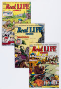 Golden Age (1938-1955):Non-Fiction, Real Life Comics #50, 52, and 55 Group (Nedor Publications,1949-50).... (Total: 3 Comic Books)