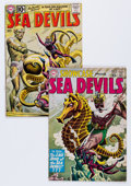 Silver Age (1956-1969):Superhero, Sea Devils Related Group (DC, 1960-61) Condition: Average VG-.... (Total: 2 Comic Books)