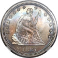 Proof Seated Quarters, 1885 25C PR67 NGC. Briggs 3-B....