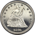 Proof Seated Quarters, 1876 25C PR66 Deep Cameo PCGS Secure. CAC....