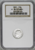 Proof Roosevelt Dimes: , 1952 10C PR68 W Cameo NGC. A beautifully struck and pristine SuperbGem proof. Lovely cameo contrast is evident on each sid...