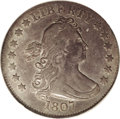 Early Quarters: , 1807 25C XF45 PCGS. B-1, R.3. The reverse die of this variety isunique in the Draped Bust quarter series as having only fo...