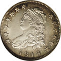 Bust Quarters: , 1818 25C MS60 NGC. B-2, R.1. This variety is easily spotted by the wide date, stars close to the border, and the lower left...