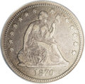 Seated Quarters: , 1870-CC 25C VF20 PCGS. Despite its favored status amongnumismatists today, the Carson City Mint did not lead a charmedlif...