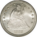Seated Quarters: , 1882 25C MS67 PCGS. We have handled more proof Seated quarters ofthis date than business strikes, not surprising since the...