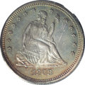Proof Seated Quarters: , 1868 25C PR65 PCGS. The Mint's low output of only 29,400 businessstrike quarters in 1868 has placed intense collector pres...