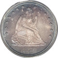 Proof Seated Quarters: , 1880 25C PR67 PCGS. Type One Reverse. A memorably toned specimenwith rich amber and indigo-blue shades on the obverse and ...