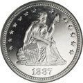 Proof Seated Quarters: , 1887 25C PR66 Cameo NGC. The scintillating, mirrored fields appearexactly as struck, with a complete absence of toning. Th...
