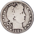 Barber Quarters: , 1901-S 25C Good 4 PCGS. Light to medium gray with full, bold rimson the obverse and only occasional mushiness at the rever...