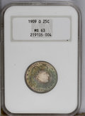 Barber Quarters: , 1909-O 25C MS63 NGC. Struck during the final year of coinageoperations at the New Orleans Mint. Fully lustrous with bright...