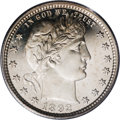 Proof Barber Quarters: , 1892 25C PR67 Deep Cameo PCGS. Type Two Reverse. Uniformly brilliant, with heavy frosting on the major design elements and ...