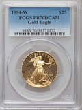 Modern Bullion Coins: , 1994-W $25 Half-Ounce Gold Eagle PR70 Deep Cameo PCGS. PCGS Population (200). NGC Census: (596). Numismedia Wsl. Price for...