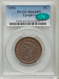 Large Cents: , 1856 1C Upright 5 MS64 Brown PCGS. CAC. PCGS Population (95/30). NGC Census: (197/140). Mintage: 2,690,463. Numismedia Wsl....