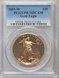 Modern Bullion Coins: , 2001-W $50 One-Ounce Gold Eagle PR70 Deep Cameo PCGS. PCGS Population (115). NGC Census: (562). Numismedia Wsl. Price for ...