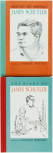 Books:Biography & Memoir, [James Schuyler]. Nathan Kernan and Simon Pettet, editors. SIGNED.Pair of First Editions Relating to James Schuyler. Black ...(Total: 2 Items)