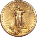 High Relief Double Eagles, 1907 $20 High Relief, Flat Rim -- Rim Filed -- NCS. XF Details....