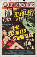 "Movie Posters:Horror, The Haunted Strangler (MGM, 1958). One Sheet (27"" X 41""). Horror.. ..."