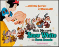 """Movie Posters:Animation, Snow White and the Seven Dwarfs & Others Lot (Buena Vista, R-1967). Title Lobby Card (11"""" X 14""""), One Sheets (2) (27"""" X 40.5..."""