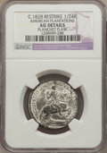 Colonials: , (c. 1828) TOKEN American Plantations 1/24 Part Real, Restrike -- Planchet Flaw -- NGC Details. AU. NGC Census: (1/9). PCGS ...