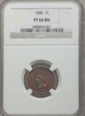 Proof Indian Cents: , 1888 1C PR66 Brown NGC. PCGS Population (16/1). Mintage: 4,582. Numismedia Wsl. Price for problem free N...