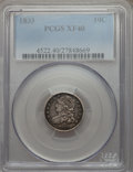 Bust Dimes: , 1833 10C XF40 PCGS. PCGS Population (38/304). NGC Census: (14/246).Mintage: 485,000. Numismedia Wsl. Price for problem fre...